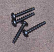 Black Plastite screws for ABS plastic enclosures.