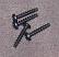 Black Plastite screws for ABS plastic enclosures.