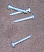 Silver Plastite screws.