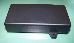 100X25 Black Discounted Plastic Enclosures with Wall Mount Tabs