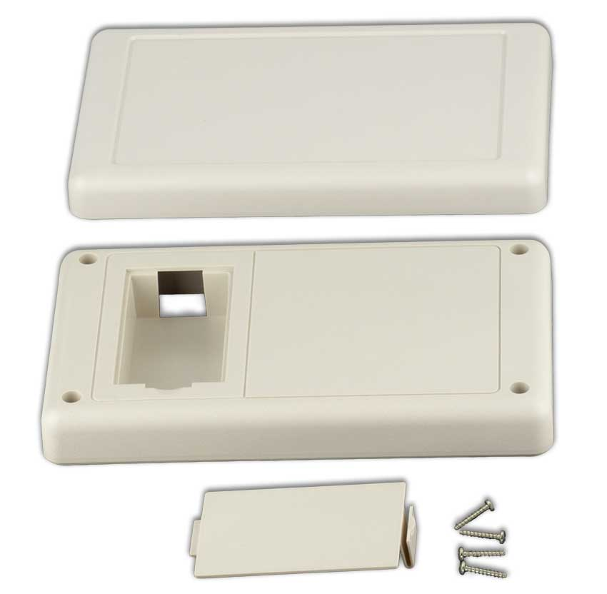 36T2AB Handheld Plastic Enclosures, Flat Top AA Battery Bottom