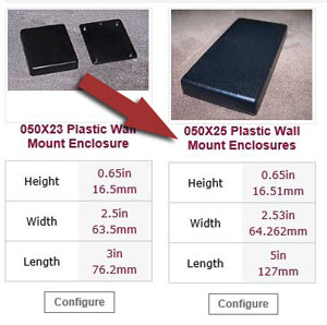 free samples of plastic enclosures